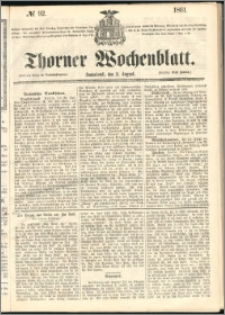 Thorner Wochenblatt 1861, No. 92