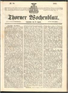 Thorner Wochenblatt 1861, No. 98