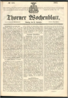 Thorner Wochenblatt 1861, No. 108