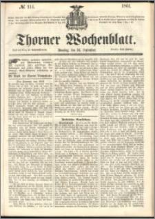 Thorner Wochenblatt 1861, No. 114