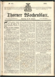 Thorner Wochenblatt 1861, No. 115