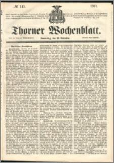 Thorner Wochenblatt 1861, No. 143 + Beilage