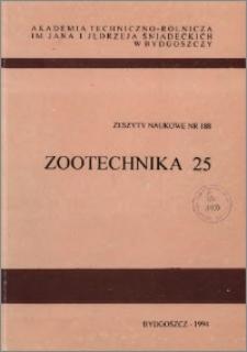 Zeszyty Naukowe. Zootechnika / Akademia Techniczno-Rolnicza im. Jana i Jędrzeja Śniadeckich w Bydgoszczy, z.25 (188), 1994
