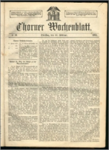 Thorner Wochenblatt 1863, No. 18 + Extra Beilage