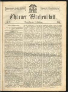 Thorner Wochenblatt 1863, No. 22