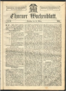 Thorner Wochenblatt 1863, No. 39