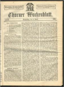 Thorner Wochenblatt 1863, No. 40 + Beilage
