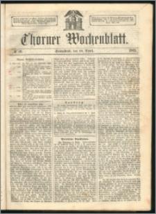 Thorner Wochenblatt 1863, No. 46 + Beilage
