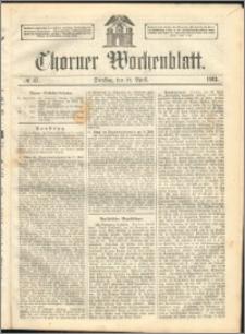 Thorner Wochenblatt 1863, No. 47 + Extra Beilage