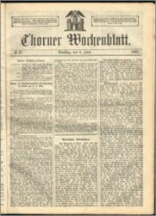 Thorner Wochenblatt 1863, No. 67 + Extra Beilage