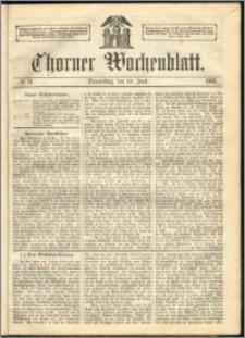 Thorner Wochenblatt 1863, No. 71