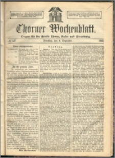 Thorner Wochenblatt 1863, No. 142 + Beilage