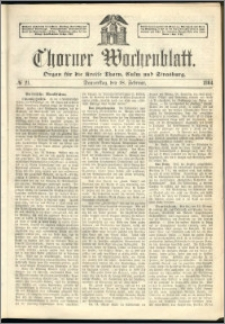 Thorner Wochenblatt 1864, No. 21