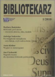 Bibliotekarz 2010, nr 1