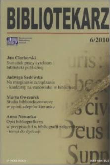 Bibliotekarz 2010, nr 6
