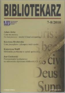 Bibliotekarz 2010, nr 7-8