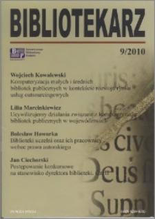 Bibliotekarz 2010, nr 9