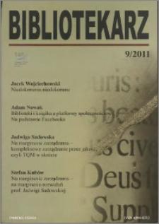 Bibliotekarz 2011, nr 9