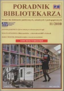 Poradnik Bibliotekarza 2010, nr 11