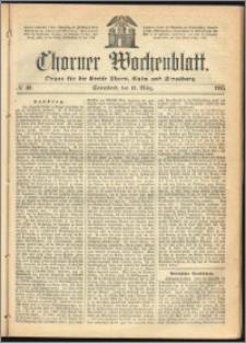 Thorner Wochenblatt 1865, No. 40 + Beilage