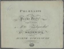 Polonaise pour le piano forte : composée et dediée à Mme Żbijewska née C-sse Wąsowicz