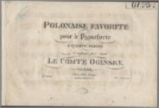 Polonaise favorite : pour le pianoforte à quatre mains composée