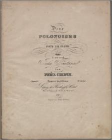 Deux polonoises pour le piano : dédiées à son ami Jules Fontana : oeuvr 40