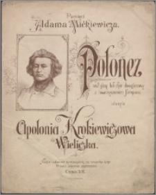 Polonez : na 2 głosy lub chór dwugłosowy z towarzyszeniem fortepianu
