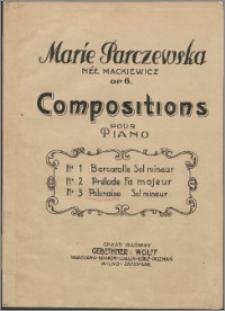 Compositions pour piano : op. 6