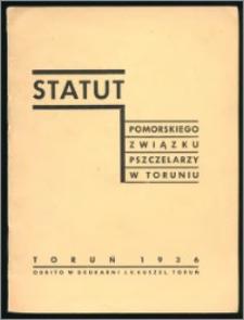 Statut Pomorskiego Związku Pszczelarzy w Toruniu 1936