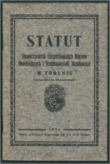 Statut Stowarzyszenia Chrześcijańskich Kupców Podróżujących i Przedstawicieli Handlowych w Toruniu : (stowarzyszenie zarejestrowane)