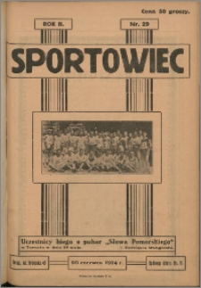 Sportowiec 1924, R. 2 nr 29