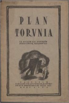 Plan Torunia ze spisem ulic, budynków publicznych, urzędowych