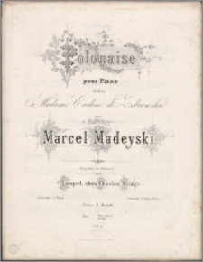 Polonaise : pour piano : dédiée à ... Eveline de Żebrowska