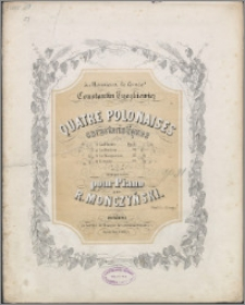 Quatre polonaises caracteristiques : pour piano. Op. 31 [No.] 1, la Plainte