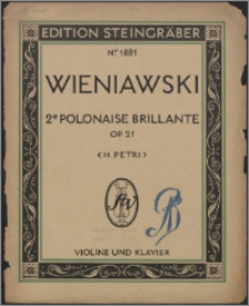 2me Polonaise brillante : op. 21
