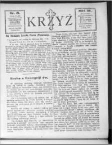 Krzyż, R. 59 (1927), nr 15