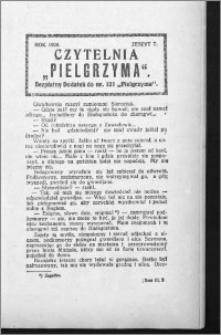 Czytelnia Pielgrzyma, R. 60 (1928), z. 7