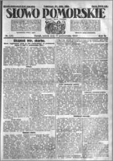 Słowo Pomorskie 1923.10.13 R.3 nr 235