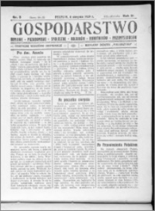 Gospodarstwo, R. 61 (1929), nr 8
