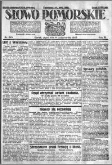 Słowo Pomorskie 1923.10.19 R.3 nr 240