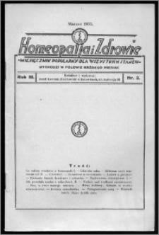 Homeopatja i Zdrowie 1933, R. 3, nr 3