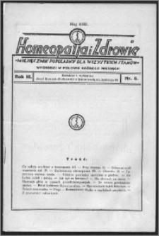 Homeopatja i Zdrowie 1933, R. 3, nr 5