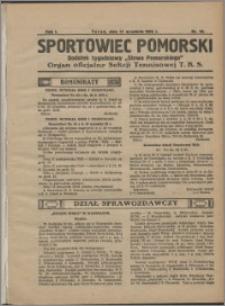 Sportowiec Pomorski 1925, R. 1 nr 16