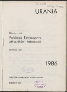 Urania 1986, R. 57 - indeksy