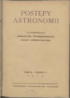 Postępy Astronomii 1956, T. 4 z. 2