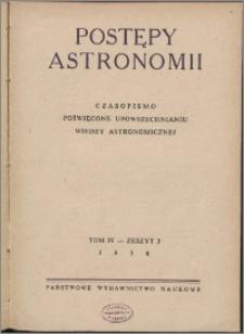 Postępy Astronomii 1956, T. 4 z. 3