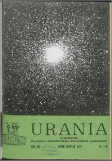 Urania 1971, R. 42 nr 7/8
