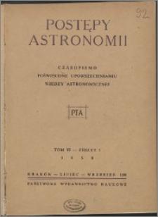 Postępy Astronomii 1958, T. 6 z. 3