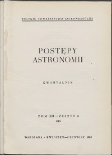 Postępy Astronomii 1965, T. 13 z. 2